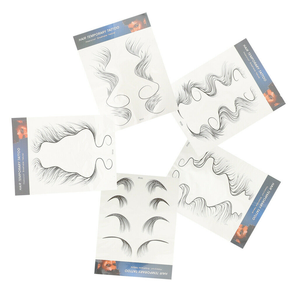 5 Sheets Hairline Decals DIY Fashion Temporary Hair Bands Sticker