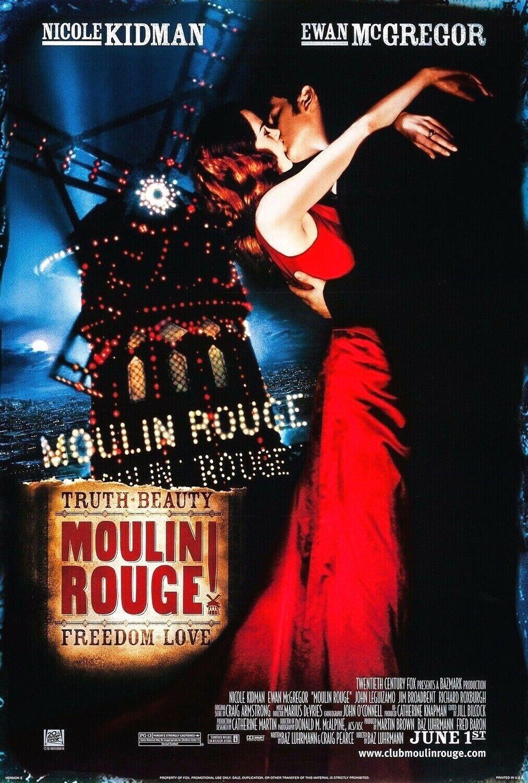 "Moulin Rouge Movie Poster Print 24x36"" Nicole Kidman Ewan McGregor ..."
