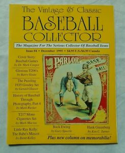 4-December-1995-Vintage-amp-Classic-Baseball-Collector-Magazine-VCBC