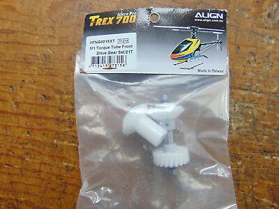 Candido Trex 700 L M1 Torque Tube Front Drive Gear Set 21 T H7ng001xx7 Nuovo Con Scatola-mostra Il Titolo Originale Rafforza Tendini E Ossa