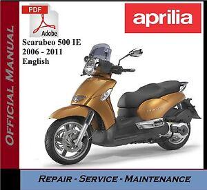 aprilia scarabeo 500 ie 2006 2011 workshop service repair manual rh ebay co uk aprilia scarabeo 100 2t service manual Aprilia Scarabeo 150 Forum