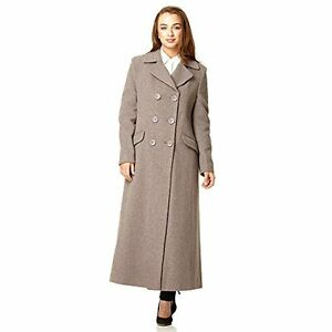 51cb9f32e De La Creme - Women's Double Breasted Fitted Long Coat | eBay