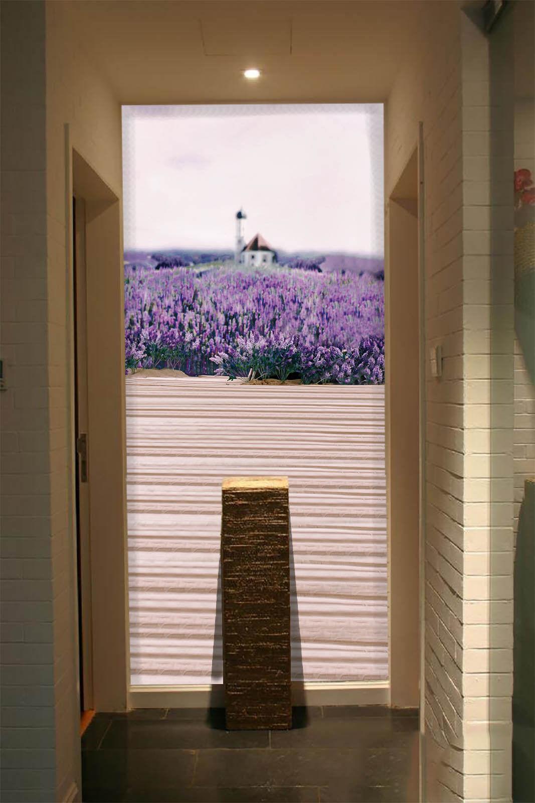 3D Lavenders Hut 87 Wall Paper Murals Wall Print Wall Wallpaper Mural AU Kyra