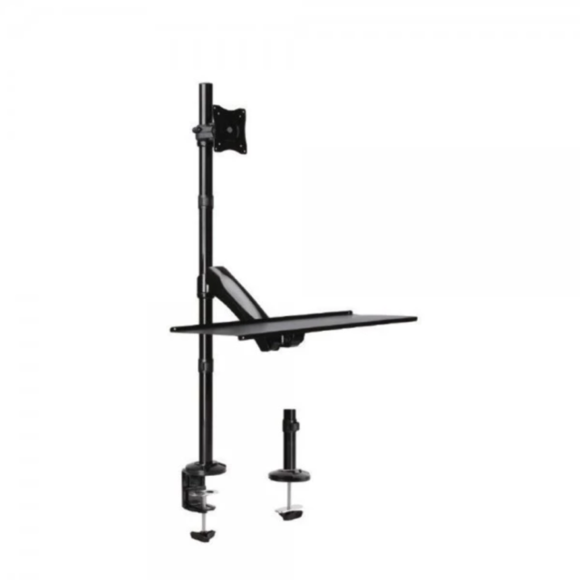 """Brateck Single Monitor Sit-Stand Workstation for 13""""-27"""" LCD Monitors and Screen"""