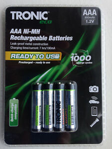 Batteries-Stay-Charged-German-12x-Tronic-AAA-NIMH-Rechargeable-PreCharged-950mah