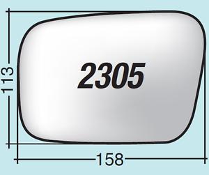Vetro specchio retrovisore Subaru Outback dal 2003 al 2009 sinistro 2305S