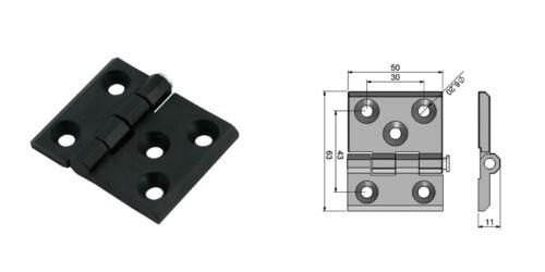 Metallscharnier Anschraubscharnier Türband Beschlag Hinge Scharniere Zink 50x63