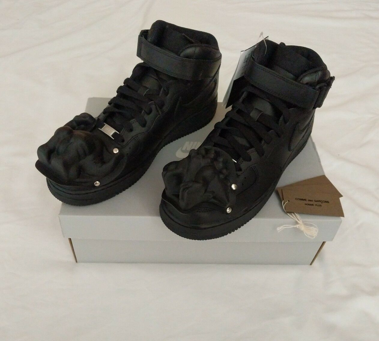 Nike Comme Des Garcons Air Force One Black Lows Nike Air Dino CDG Airs 1s