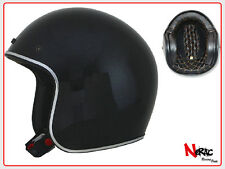 AFX FX 76 CASCO MOTO CAFE RACER CUSTOM VINTAGE HELMETH CHOPPER BLACK METAL FLAKE