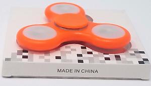 ORANGE LED Light Up Tri Spinner Fidget Focus Hand TOY Finger FLASHING Brand New