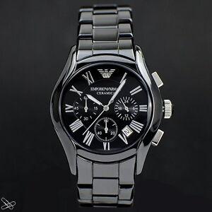 Emporio-Armani-Ceramica-Reloj-de-hombre-AR1400-Cronografo-color-Negro