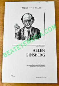 ALLEN-GINSBERG-BOOKS-COMIC-ART-BEATNIK-WILLIAM-S-BURROUGHS-KEROUAC-ROBERT-CRUMB