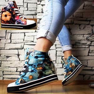 Designer-LUJO-Zapatillas-Tacones-De-Cuna-Floral-Zapatos-de-mujer-botines-Gr-36