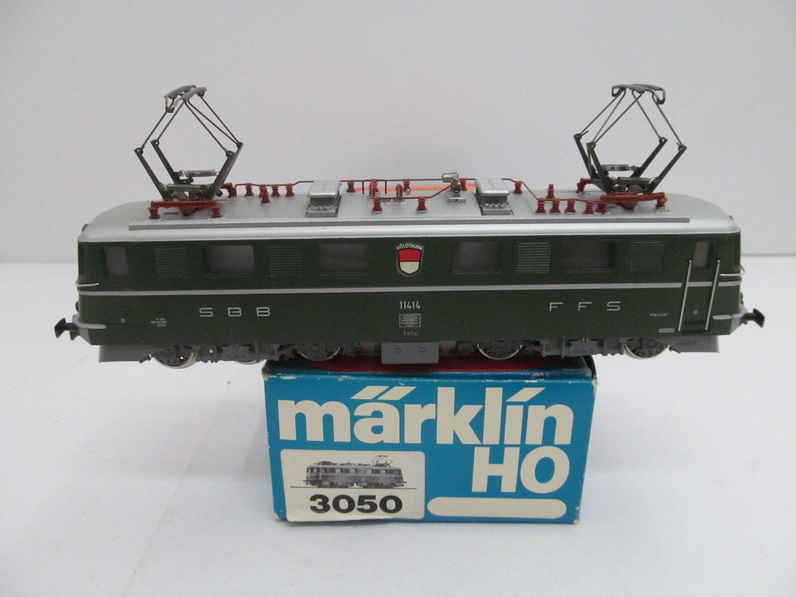 Märklin mes-44237 3050 h0 E-Lok SBB 11414 ae6 6 con segni di usura minima,