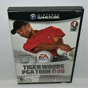 Tiger-Woods-PGA-Tour-06-Nintendo-GameCube-2005-Complete-Worn-Cover-Art-Tested