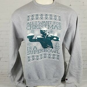 Champion Barstool Eagles Ugly Sweater Sweatshirt Super Bowl Mens