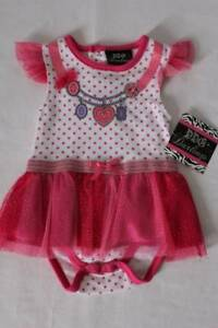 292ee45f6e5e NEW Baby Girls Outfit Size 3 - 6 Months White Pink Bodysuit Polka ...