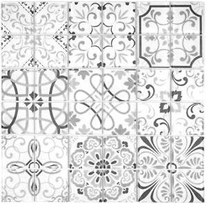 Retro-Vintage-mosaico-piastrella-TRASLUCIDA-GRIGIO-VETRO-GERMANY-68-RETRO-G-B-1-Tappetino