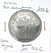 JETON NOTAIRES - PONT AUDEMER - POINÇON CORNE ARGENT - LEROUGE 332 C