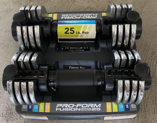 25lbs Total New ProForm Fusion 2 12.5lb Adjustable Dumbbells Select-A-Weight