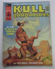 KULL AND THE BARBARIANS #2 JULY 1975 RED SONJA SOLOMON KANE NEAL ADAMS GIL KANE