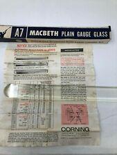 Macbeth D639276 A7 High Pressure Plain Gauge Glass