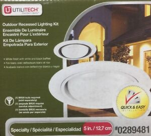 utilitech white outdoor 5 inch recessed lighting kit 0289481