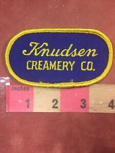 Vtg-KNUDSEN-CREAMERY-CO-Of-California-Patch-Dairy-Milk-Buttermilk-amp-More-76YH