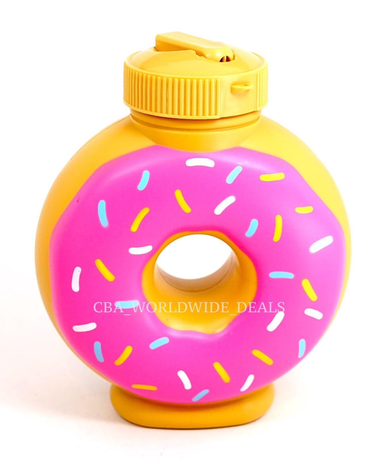NEW Universal Studios Simpsons Lard Lad Donuts Pink Souvenir Sipper Drink Cup