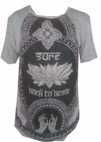 Hommes Chemise à manches courtes coton Yoga Lotus Bouddha Chakras Mandala Sûr XL LOVE OM