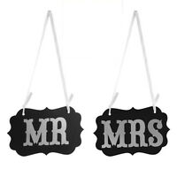 MR MRS Photo Booth Prop Wedding Birthday Party Black Card Photography Props New