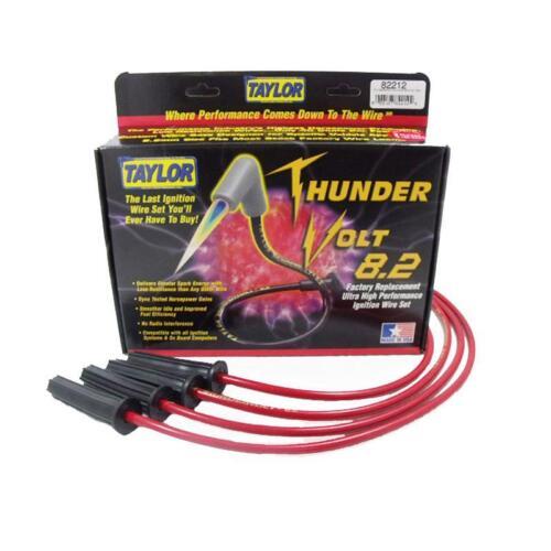 Taylor Spark Plug Wire Set 82212; ThunderVolt 8.2mm Red for Chevy ...