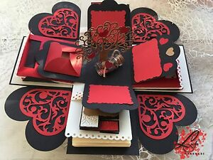 Love Exploding Photo Box Perfect gift for Anniversary Valentines Day ... 9be6f0d26