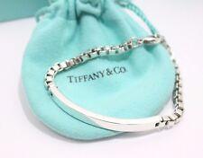 """Auth TIFFANY & Co. Sterling Silver 2004 Venetian ID Bracelet 7.5"""""""
