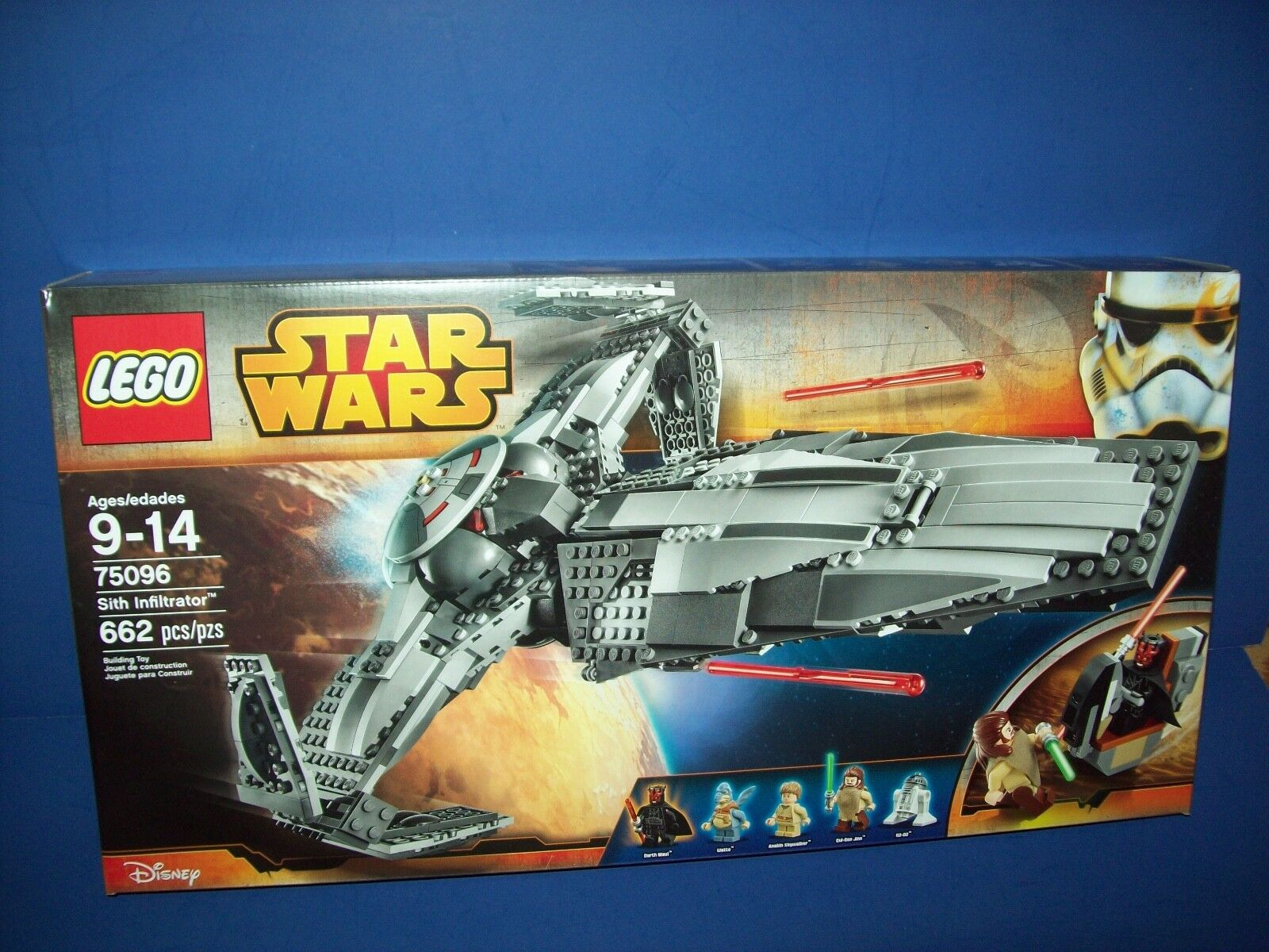 LEGO  75096 Star Wars Sith Infiltrator 662 pices new sealed retirosso