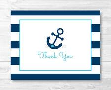 Nautical Blue Anchor Thank You Card Printable