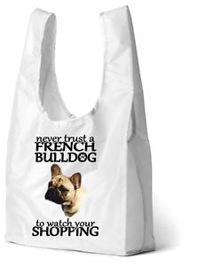 French Bulldog  Dog Printed Design Eco-Friendly Foldable Shop Bag SB2FRENCHIE-5