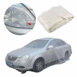 Disposable-Plastic-Car-Cover-Universal-Waterproof-Cover-Rain-Dust-Garage-Cover