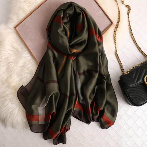 Woman Silk Scarf Long Luxury Brand 2020 designer Scarves Large Long Shawl wraps