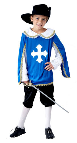FANCY DRESS CHILD MUSKETEER FITS AGES 4-12