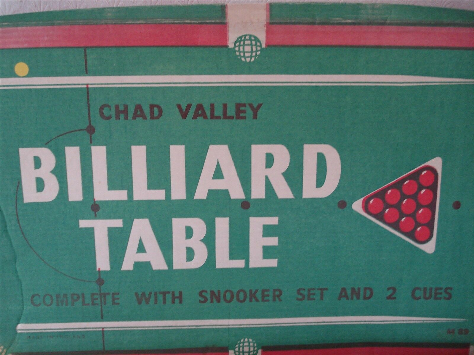 CHAD VALLEY SNOOKER GAME - BILLIARD TABLE - SNOOKER GAME - CHAD VALLEY - SNOOKER