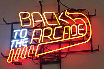 "Back To The Arcade Neon Sign Light Lamp 17/""x14/"" Beer Artwork Decor Bedroom"