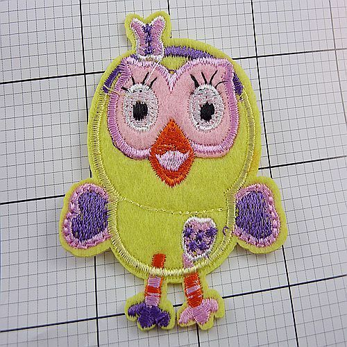 1pcs Embroidered Cloth Iron On Patch Sew Motif Applique Owl F122 M
