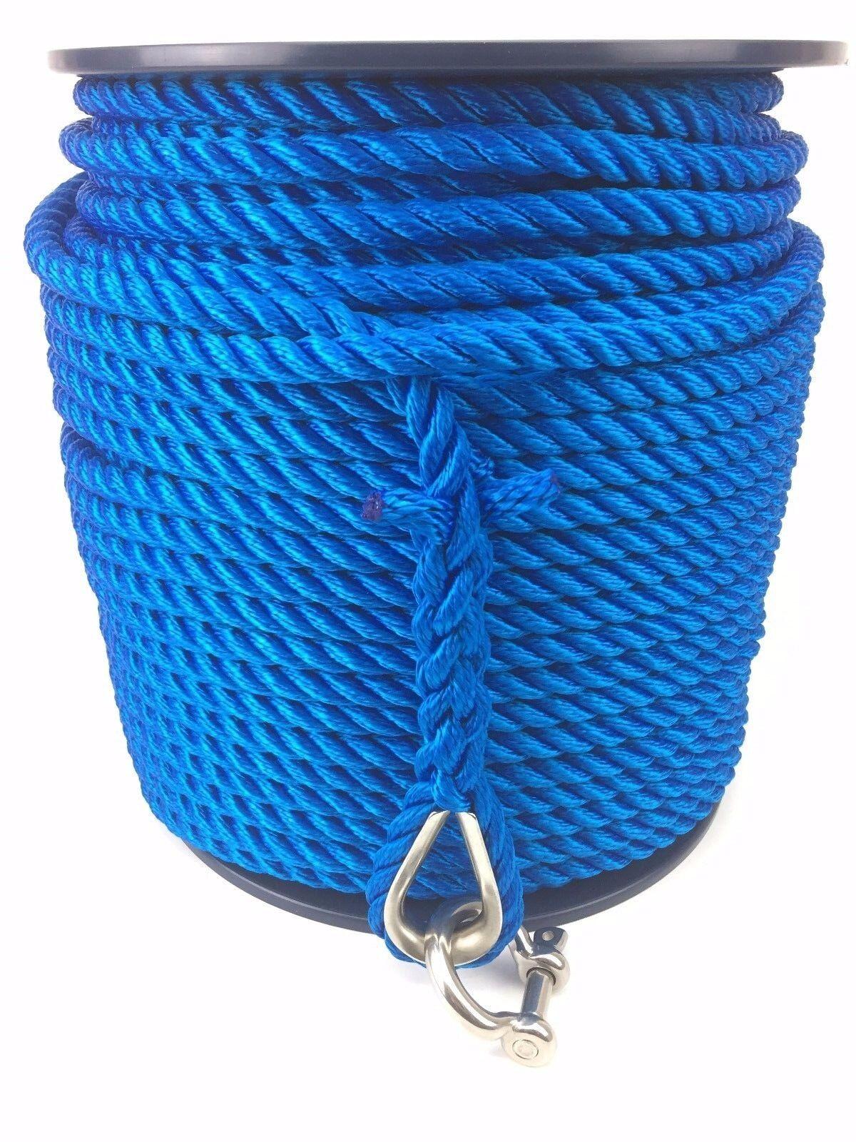 10mm To 16mm blau Multi-filament Seil K W rostfrei Kausch One ende auf ein reel