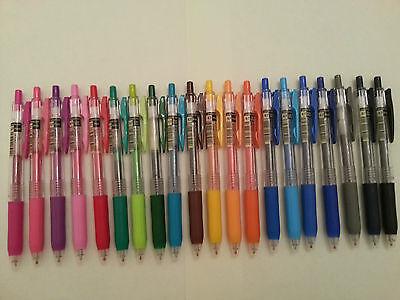 Zebra Sarasa Push Clip 0.7mm retractable Gel Ink Pen GREEN x 10 pcs