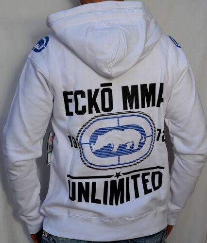 NEW ALL STAR HOODIE MMA White Men/'s Zip Up Hooded Sweatshirt ECKO Unltd