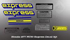 HONDA 1977 NC50 EXPRESS KIT DECALS GRAPHIC LIKE NOS