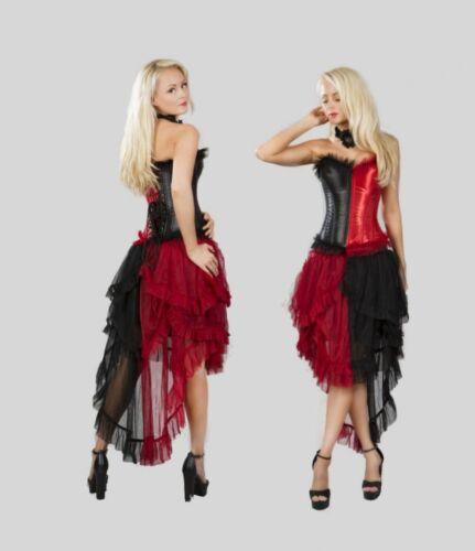 Gothic Steampunk Burlesque Burleska Rock Harlequin schwarz rot 40 42 44 46