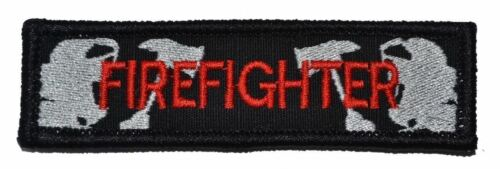 Firefighter Nametape 3.75x1 Rear Hat Patch