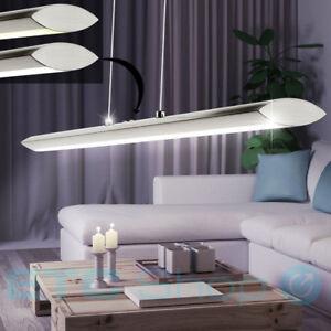 LED-Decken-Pendel-Lampe-Wohn-Ess-Zimmer-Licht-Touch-Dimmer-Haenge-Leuchte-Chrom